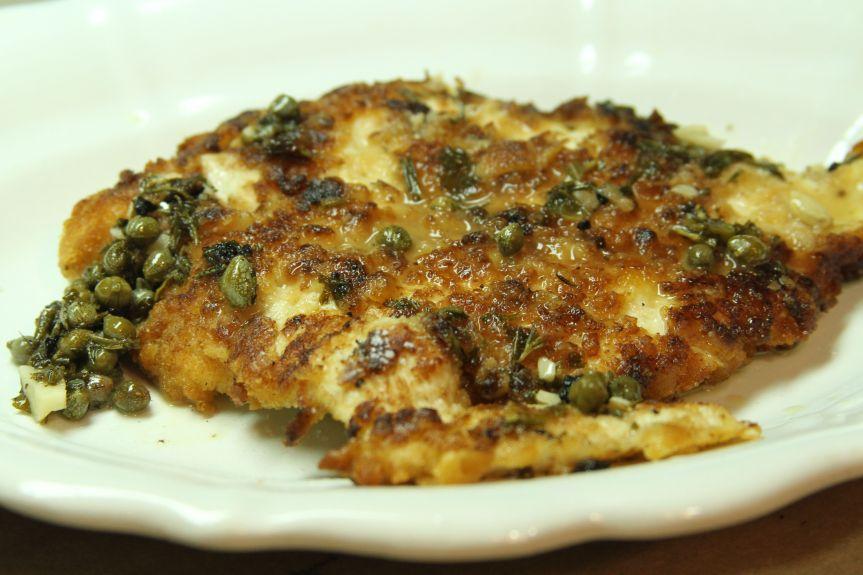 Cracker Crust Chicken w_ Lemon Rosemary Sauce 9