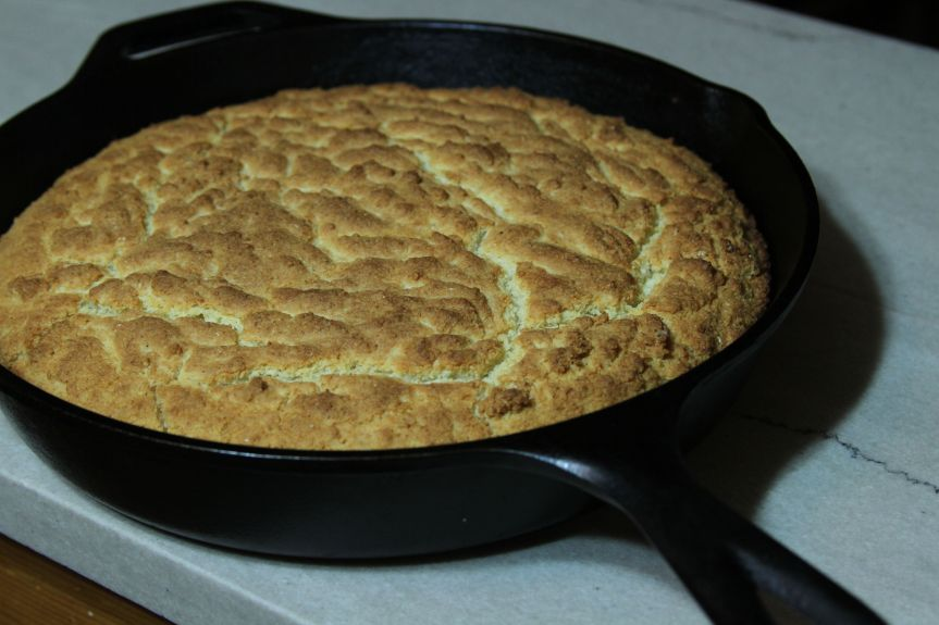Iron Skillet Green Onion Corn Bread