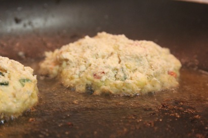 crabcake cooking